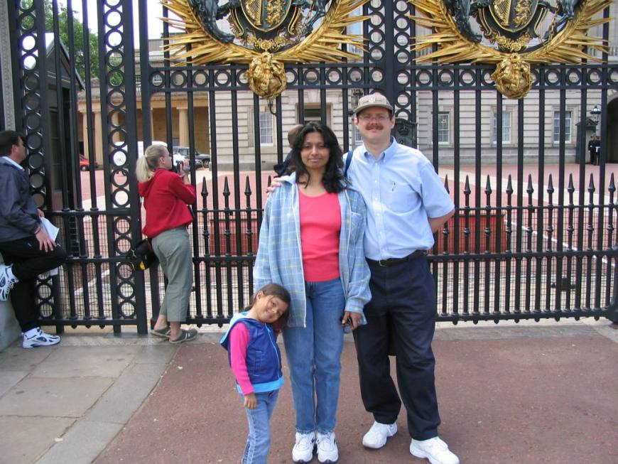 The three of us at Buckingham Palace