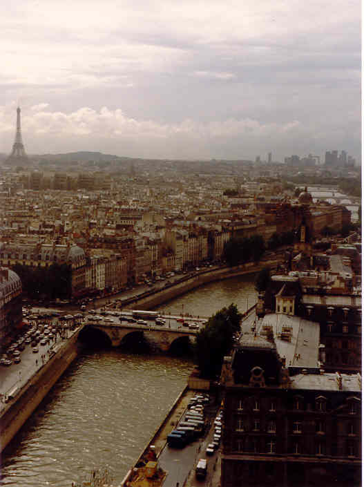View of Paris from Notre Dame bell-tower. One of my favorite photos